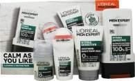 L'oreal Men Expert Calm As You Like Gift Set 300ml Hydra Sensitive Shower Gel + 100ml Hydra Sensitive Face Wash + 50ml Hydra Sensitive Moisturiser + 50ml Sensitive Control Roll On Deodorant