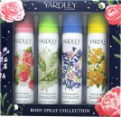 Yardley Body Spray Collection Gift Set 75ml English Rose Body Spray + 75ml Lily Of The Valley Body Spray + 75ml English Bluebell Body Spray + 75ml English Freesia Body Spray