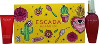 Escada Flor Del Sol Gavesett 50ml EDT + 50ml Body Lotion + Veske