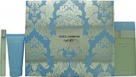 Dolce & Gabbana Light Blue Gift Set 100ml EDT + 50ml Body Cream + 10ml EDT