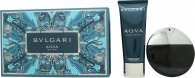 Bvlgari Aqva Pour Homme Gift Set 100ml EDT + 100ml Aftershave Balm + Pouch