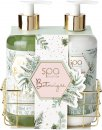 Style & Grace Spa Botanique Luxury Handcare Gift Set Eco Packaging 280ml Hand Wash + 280ml Hand Lotion + Metallic Basket
