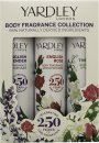 Yardley Body Fragrance Collection 75ml English Lavender + 75ml Lily of the Valley + 75ml English Rose
