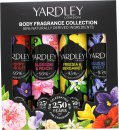 Yardley Contemporary Body Sprays Gift Set 75ml Bluebell & Sweet Pea + 75ml Freesia & Bergamot + 75ml Poppy & Violet + 75ml Blossom & Peach