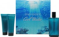 Davidoff Cool Water Set de Regalo 125ml EDT + 75ml Bálsamo Aftershave + 75ml Gel de Ducha