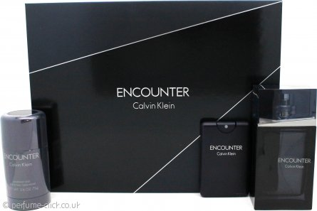 Calvin Klein Encounter Gift Set 100ml EDT + 20ml EDT + 75g Deodorant Stick