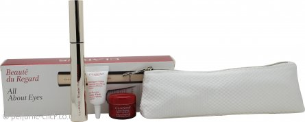 Clarins All About Eyes Gift Set 7ml Wonder Perfect Mascara + 3ml Eye Revive Beauty Flash + 4ml Lisse Minute Instant Smooth Perfecting Touch Eye Cream