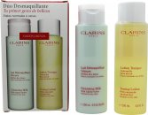 Clarins Cleansing and Toning Duo Pack - Tør/Normal Hud 2 x 200ml