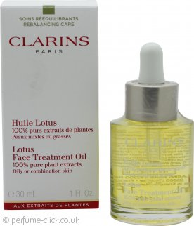 Clarins Lotus Face Treatment Oil Combination / Oily Skin 30ml