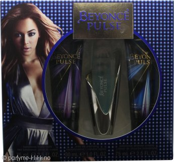 Beyonce Pulse Gavesett 30ml EDP + 75ml Body Lotion + 75ml Dusjgele