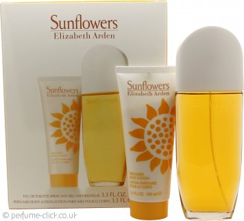 Elizabeth Arden Sunflowers Gift Set 100ml EDT + 100ml Body Lotion