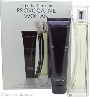 Elizabeth Arden Provocative Woman Gift Set 100ml EDP + 100ml Body Lotion