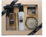 Style & Grace Spa Back To Nature Massage Gift Set 200ml Cleansing Body Wash + 130ml Smoothing Body Lotion + 50ml Revitalising Body Scrub + Exfoliating Body Brush