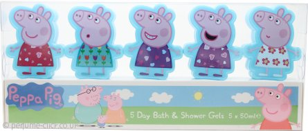 Peppa Pig Five Day Gift Set 5x 50ml Bath & Shower Gel