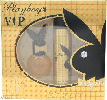 Playboy VIP for Her Confezione Regalo 30ml EDT + 75ml Body Spray