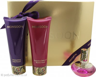 Monsoon Gift Set 30ml EDT + 100ml Body Cream + 100ml Bath & Shower Cream