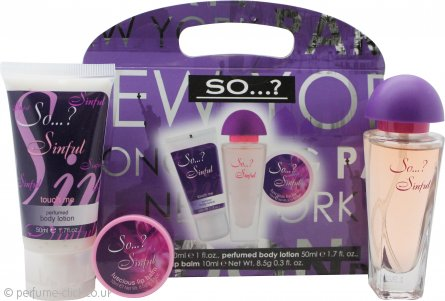 So...? Sinful Gift Set 30ml EDT + 50ml Body Lotion + 10ml Lip Balm