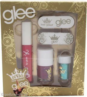 Glee Divas Free Your Glee Set de Regalo Let's Face It - 10.2ml Brillo Labial + 6.8ml Laca Uñas + 2g Polvo Ojos + 2 Limas Uñas