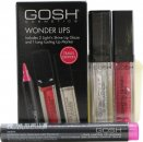GOSH Wonder Lips Gift Set 2.5ml Long Lasting Lip Marker - 002 Pink + 2 x 6 ml Light'n Shine Lip Glaze - 01 & 08