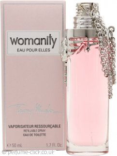 Thierry Mugler Womanity Eau pour Elles Eau de Toilette 50ml Refillable Spray