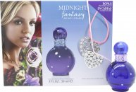 Britney Spears Midnight Fantasy Gift Set 30ml EDP + Heart Necklace