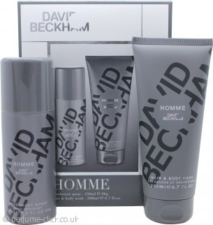David Beckham David Beckham Homme Gift Set 200ml Shower Gel + 150ml Deodorant Spray
