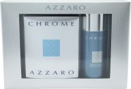 Azzaro Chrome Gift Set 50ml EDT + 150ml Deodorant Spray