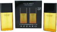 Azzaro Pour Homme Gift Set 50ml EDT + 30ml Aftershave Balm + Toiletry Bag