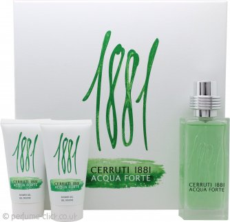 Cerruti 1881 Acqua Forte Gift Set 75ml EDT + 2 x 50ml Shower Gel