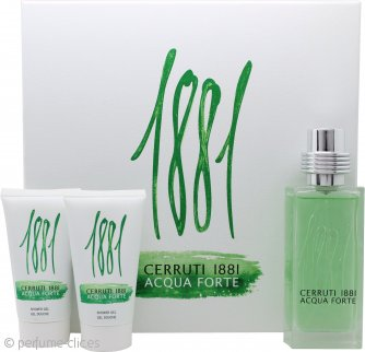 Cerruti 1881 Acqua Forte Set de Regalo 75ml EDT+ x2 Gel de Ducha 50ml