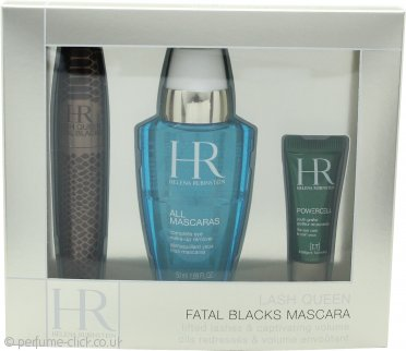 Helena Rubinstein Lash Queen Fatal Gift Set 7.2ml Mascara + 50ml All Mascaras! Eye Make-Up Remover + 3ml Prodigy Eye Care