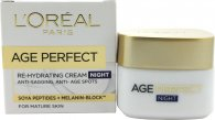 L'Oréal Age Perfect Re-Hydrating Night Cream 50ml Reife Haut