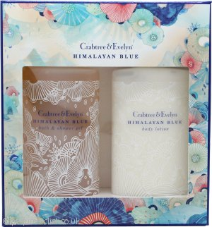 Crabtree & Evelyn Himalayan Blue Gift Set 200ml Body Lotion + 200ml Bath & Shower Gel