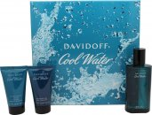 Davidoff Cool Water Confezione Regalo 75ml EDT + 50ml Gel Doccia + 50ml Balsamo Dopobarba