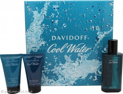 Davidoff Cool Water Gift Set 75ml EDT + 50ml Shower Gel + 50ml After Shave Balm