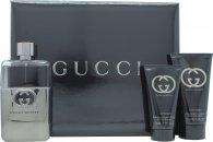 Gucci Guilty Pour Homme Gavesæt  Travel Collection 90ml EDT + 50ml A/Shave Balm + 50ml All Over Shampoo
