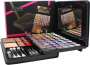 Active Glamour Face Folio Compact - 54 Eyeshadows + 1 Compact Powder + 2 Blushers + 5 Lip Glosses + 3 Pencils & Brush Set