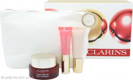 Clarins Instant Gift Set 15ml Instant Smoothing Touch + 10ml Instant Light Radiant Boosting Complex Base + 5ml Instant Light Natural Lip Perfector