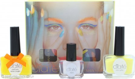 Ciaté Corrupted Neon Manicure Gift Set 13.5ml Neon Orange Nail Polish + 10g Neon Glitter + 5ml Black Light Top Coat
