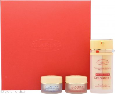 Clarins Multi-Regenerante Gift Set 30ml Double Serum Generation 6 + 15ml Extra-Firming Day Lifting Crema + 15ml Extra-Firming Night Rejuvenating Crema