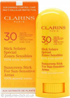 Clarins Sunscreen Stick 8g SPF30 For Sun-Sensitive Areas