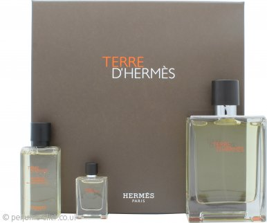 Hermes Terre D'Hermes Gift Set 100ml EDT + 40ml Shower Gel + 5ml EDT
