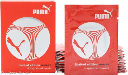 Puma Limited Edition Woman Fragranced Towels 10 x 3ml