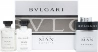 Bvlgari Man Extreme Gavesæt 60ml EDT Spray + 40ml Aftershave Balm + 40ml Shampoo and Shower Gel