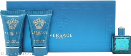Versace Eros Gift Set 5ml EDT + 25ml Shower Gel + 25ml Aftershave Balm