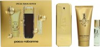 Paco Rabanne 1 Million Gift Set 100ml EDT Spray + 100ml Shower Gel + 15ml EDT Spray