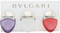 Bvlgari Omnia Collection Jewel Charm Coffret Gift Set 15ml EDT Omnia Crystalline + 15ml EDT Omnia Coral + 15ml EDT Omnia Amethyste