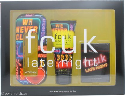 FCUK Late Night Her Set de Regalo 100ml EDT + 100ml Loción Corporal + Naipes