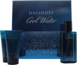 Davidoff Cool Water Gift Set 75ml Aftershave + 50ml Shower Gel + 50ml After Shave Balm