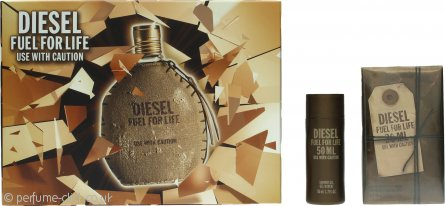 Diesel Fuel For Life Gift Set 30ml EDT Spray + 50ml Shower Gel